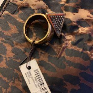 henri bendel Jewelry - Henri Bendel Pyramid cocktail ring sz8 w Swarovski